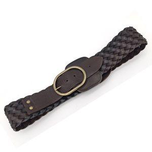 Lauren Ralph Lauren Leather Woven Belt Medium